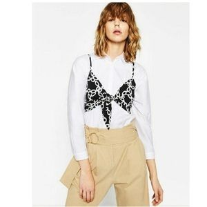Zara Chain Printed Crop Top